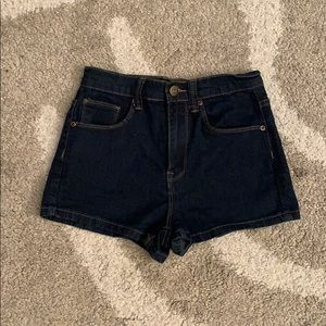 Pants - High waisted Dark jeans shorts